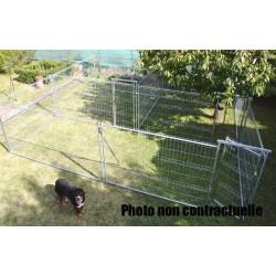 Rectangulaires doubles ou accolés renforçé 2 fois 100 m² soit 200 m² (28,45 m x 7,05 m)