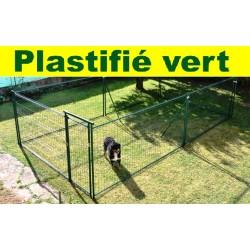 Double ou accolé 2 x 9 m², plastifié vert, soit 18 m² (7,15 m x 2,65 m)