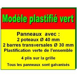 Description modèle plastifié vert
