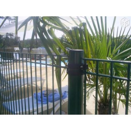 poteau sur platine hauteur 1 30 m pour cl tures piscine. Black Bedroom Furniture Sets. Home Design Ideas