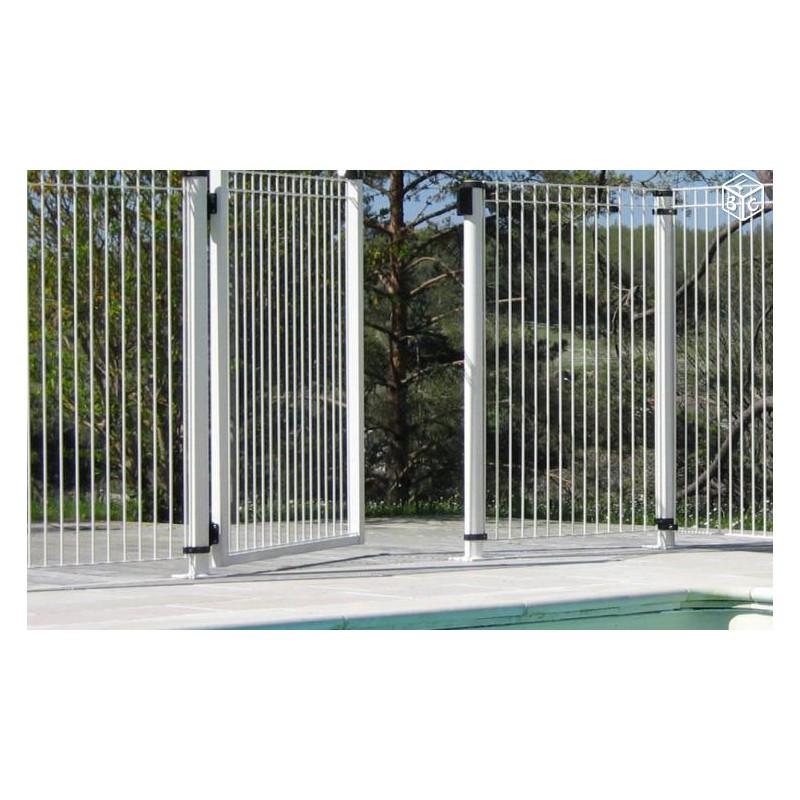 Portillon sur platine longueur 1 00 m x hauteur 1 30 m for Portillon pour piscine