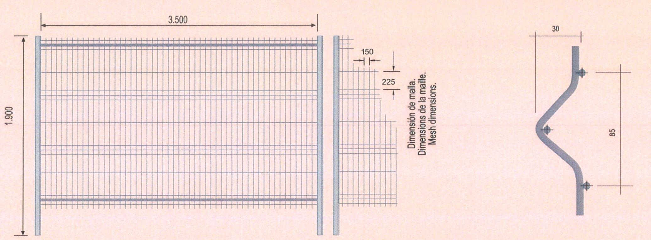 panneau cl ture tm1 plus 4 tubes paquet 50 panneaux. Black Bedroom Furniture Sets. Home Design Ideas