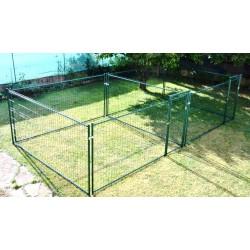 Double ou accolé 2 x 12,5 m², plastifié vert, soit 25 m² (7,15 m x 3,50 m)