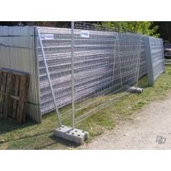 Panneau clôture mobile 2 tubes au détail